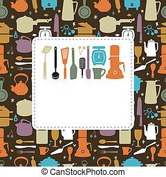 cozinha, cartão