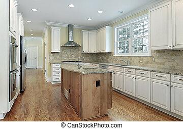 cozinha, em, contemporâneo, lar