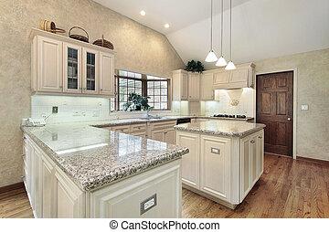 cozinha, em, repouso luxuoso