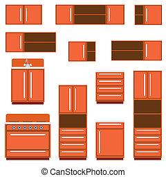 cozinha, furniture.