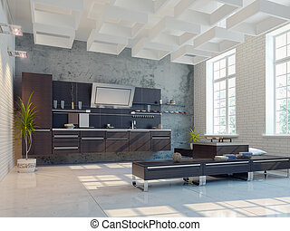 cozinha, interior