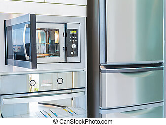 cozinha, interior, modernos