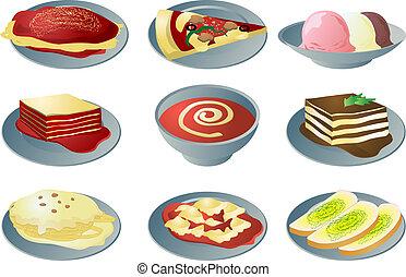cozinha italiana, ícones