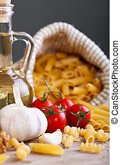 cozinha italiana, específico, ingredientes