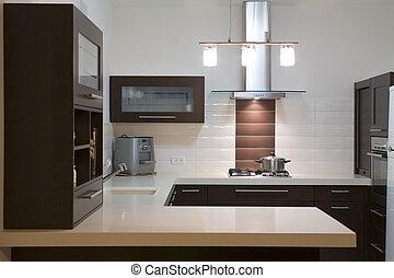 cozinha, luxo, desenho