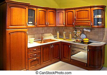 cozinha, madeira