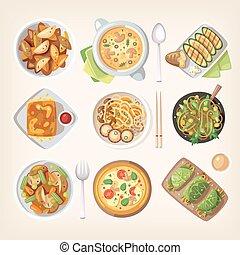 cozinha, meatless, vegetariano