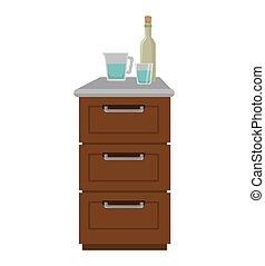 cozinha, mobília, madeira