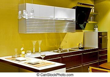cozinha, modernos