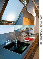 cozinha, modernos, bonito