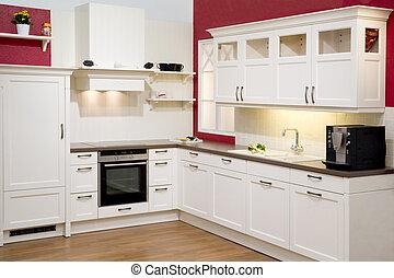 cozinha, modernos, provido