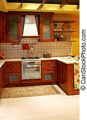 cozinha, país, madeira