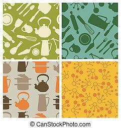 cozinha, padrão, seamless, -