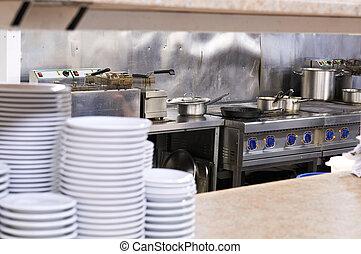 cozinha, restaurante
