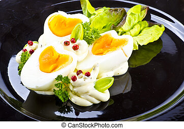 cozinhado, ovo