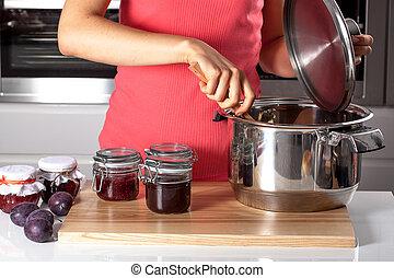 cozinhar, caseiro, apertos