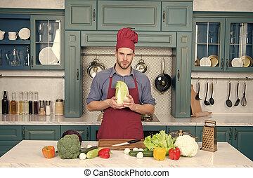 cozinhar, homem jovem