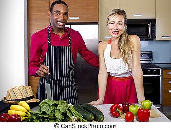 cozinheiro, aprendizagem, namorado