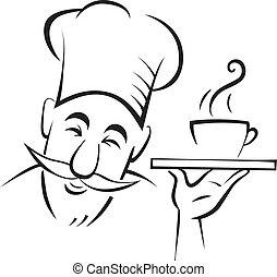 cozinheiro, cozinheiro, contorno