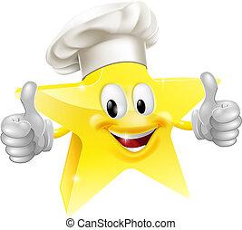 cozinheiro, estrela, mascote