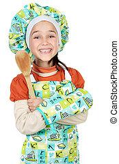 cozinheiro, futuro, adorável