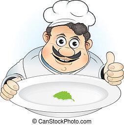 cozinheiro, gorda