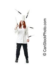 cozinheiro, juggling