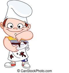 cozinheiro, menino