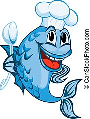 cozinheiro, peixe