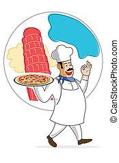 cozinheiro, pizza