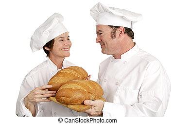 cozinheiro, série, -, agradável, pães
