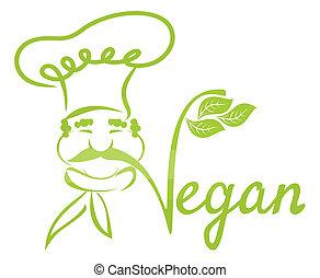 cozinheiro, vegan