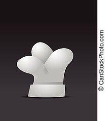 cozinheiro, vetorial, chapéu, ilustração, ícone