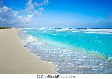 cozumel, isla, san, martin, playa, en, méxico