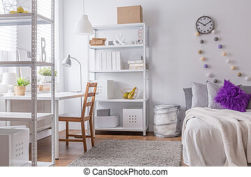 Cozy bedroom for young woman