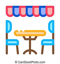 cozy cafe icon vector outline illustration - cozy cafe icon ...