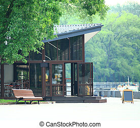 cozy cafe in the center of the city Park
