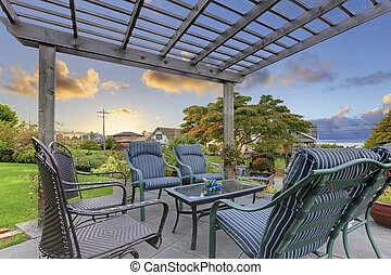 Cozy deck with chairs