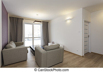 Cozy flat - living room - Cozy flat - bright living room...