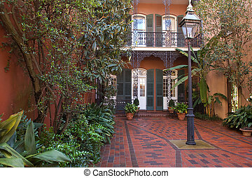 French Quarter - Cozy front yard of French Quarter house,...