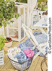 Cozy garden patio