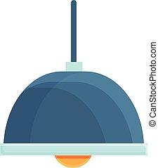 Cozy home room lamp icon, cartoon style