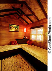 Cozy interior - Cozy and warm hotel suite interior like...