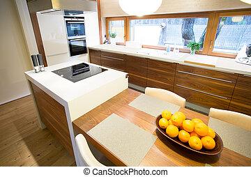 Cozy kitchen in modern house