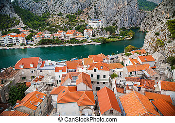 cozy landscape of the small town Omis