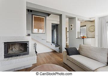 Cozy living room - Bright cozy living room in luxury...