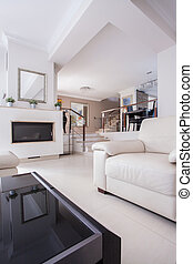Cozy living room - Image of a cozy living room in luxury ...