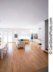 Cozy living room interior - Vertical view of cozy living...