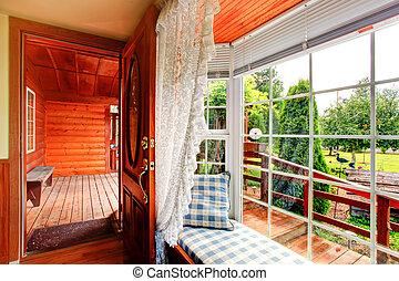 Entrance hallway with window bench