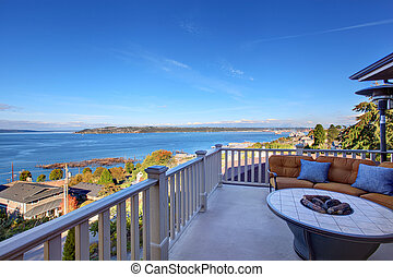 Cozy patio area with Puget Sound view. Tacoma, WA - Cozy ...